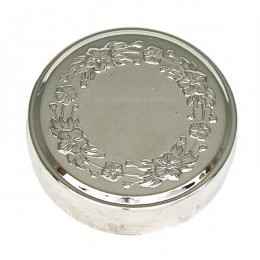 Snus can silver flower