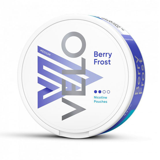 VELO Berry Frost All White Portion Medium